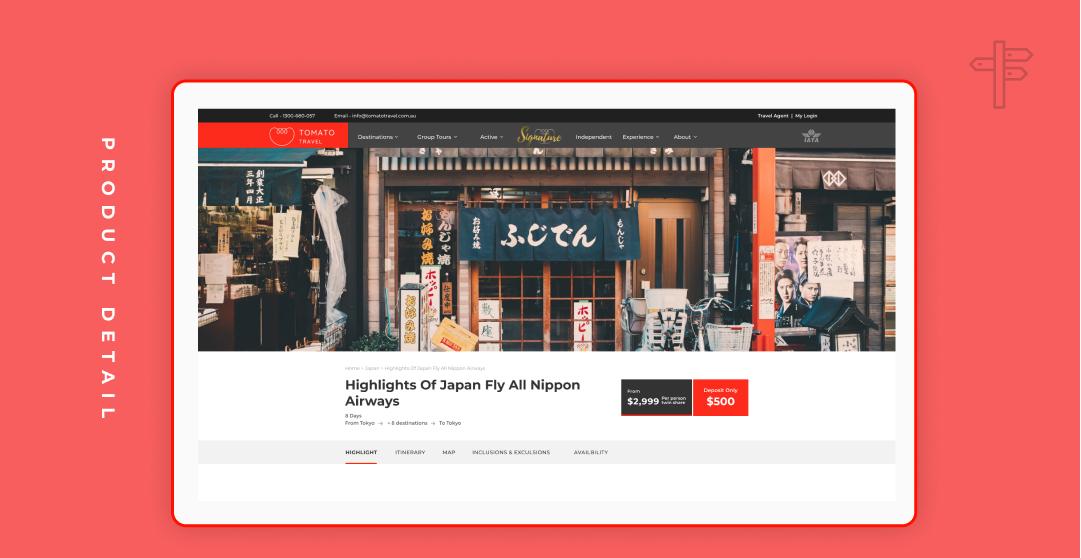 Travel Ecommerce Website