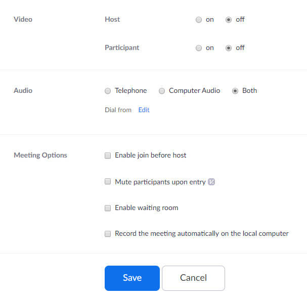 Online Meeting Platform - Zoom - Schedule a Meeting 3